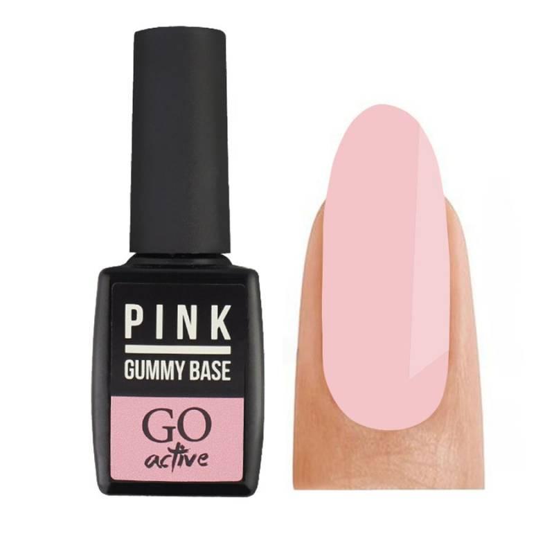 Купить База камуфлирующая каучуковая для гель-лака GO Active Gummy Base Coat №03 Pink 10 мл