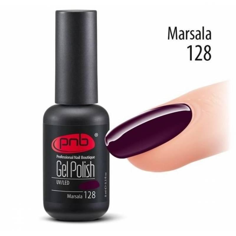 Купить Гель-лак PNB 128 Marsala (Марсала), 8 мл