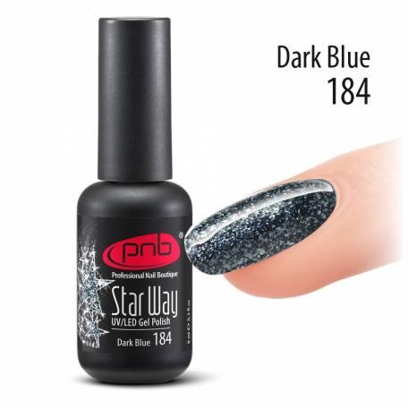 """Купить Гель-лак PNB """"Star Way"""" 184 (Синий), Dark Blue, 8 мл"""