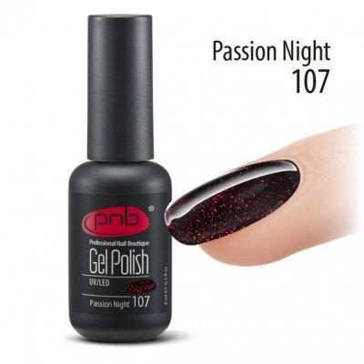 Гель-лак PNB 8 мл Passion Night 107