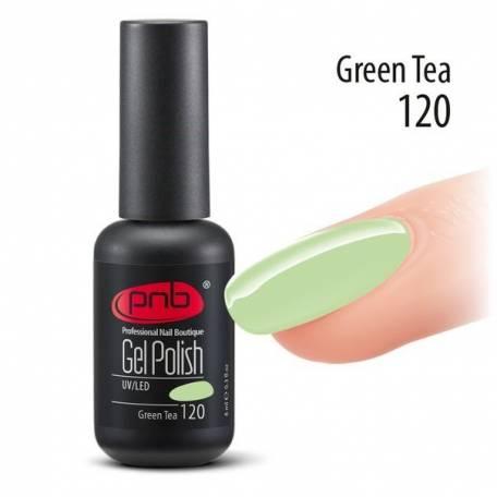 Купить Гель-лак PNB 120 Green Tea (Нежный салатовый), 8 мл