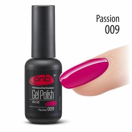 Купить Гель-лак PNB 009 Passion (Малиновый), 8 мл