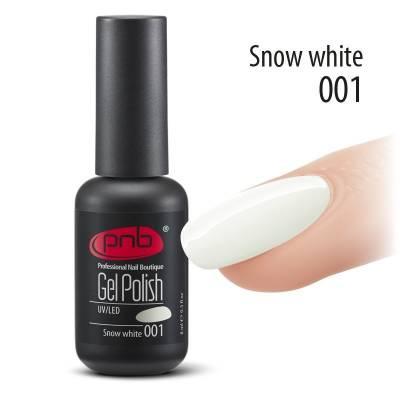 Гель-лак PNB 001 Snow White (Белый), 8 мл