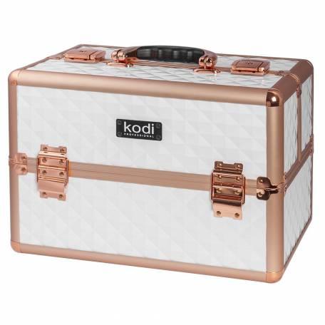 Купить Кейс для косметики Kodi Professional №44 (Белый-розовое золото)