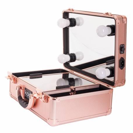 Купить Кейс-студия для визажистов Kodi Professional №34 (Розовое золото)
