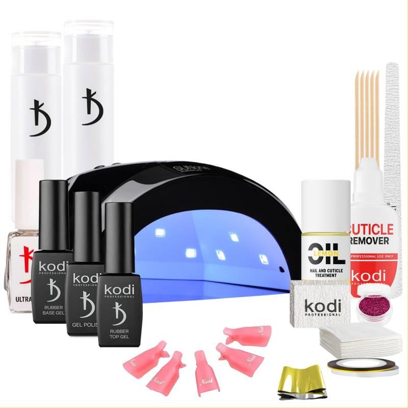 Купить Набор гель-лаков Kodi Professional с черной UV-LED лампой Sun One 48 Вт