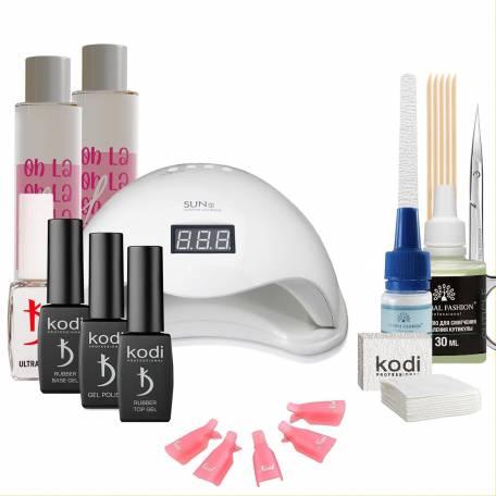 Купить Набор гель-лаков Kodi Professional с UV-LED лампой Sun 5 48 Вт (со вспомогательными жидкостями Oh! La Lac)