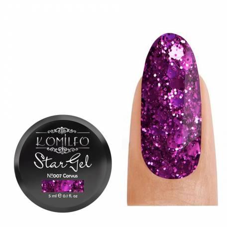 Купить Гель-краска Komilfo Star Gel №007 Corvus, 5 мл