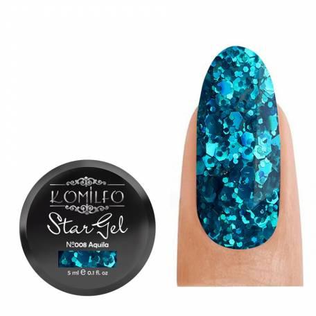 Купить Гель-краска Komilfo Star Gel №008 Aquila, 5 мл