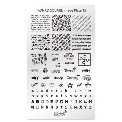 Мини пластина для стемпинга Konad 15