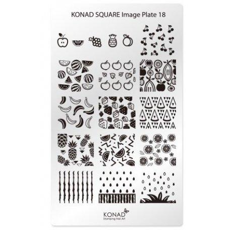 Стемпинг пластины Konad - Мини пластина для стемпинга Konad 18