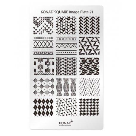 Стемпинг пластины Konad - Мини пластина для стемпинга Konad 21