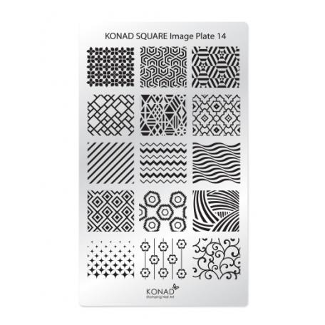 Стемпинг пластины Konad - Мини пластина для стемпинга Konad 14