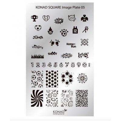 Мини пластина для стемпинга Konad 05