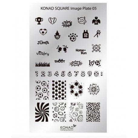 Стемпинг пластины Konad - Мини пластина для стемпинга Konad 05