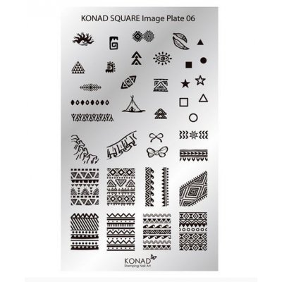 Мини пластина для стемпинга Konad 06