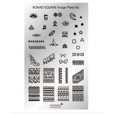 Стемпинг пластины Konad - Мини пластина для стемпинга Konad 06