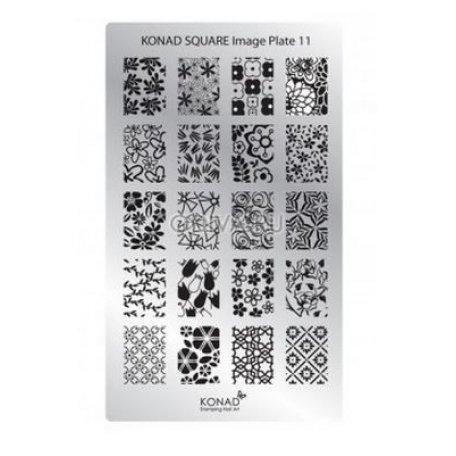 Стемпинг пластины Konad - Мини пластина для стемпинга Konad 11