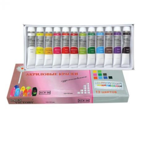 Акриловые краски - Набор акриловых красок в тубах (12 шт) ACR-00