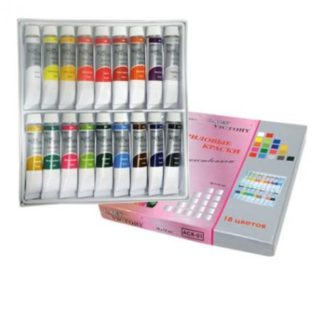Акриловые краски - Набор акриловых красок в тубах (18 шт) ACR-01