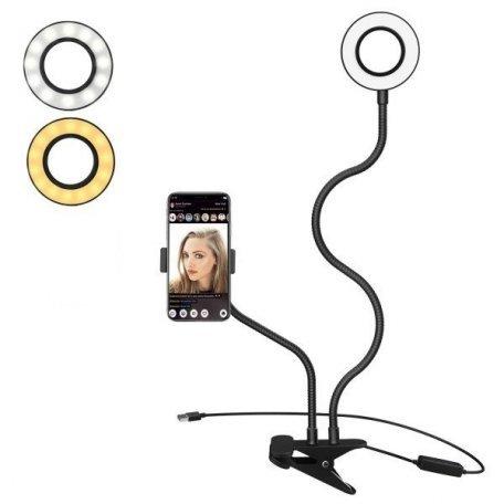 Купити Лампа настільна кільцева LED HY-0001