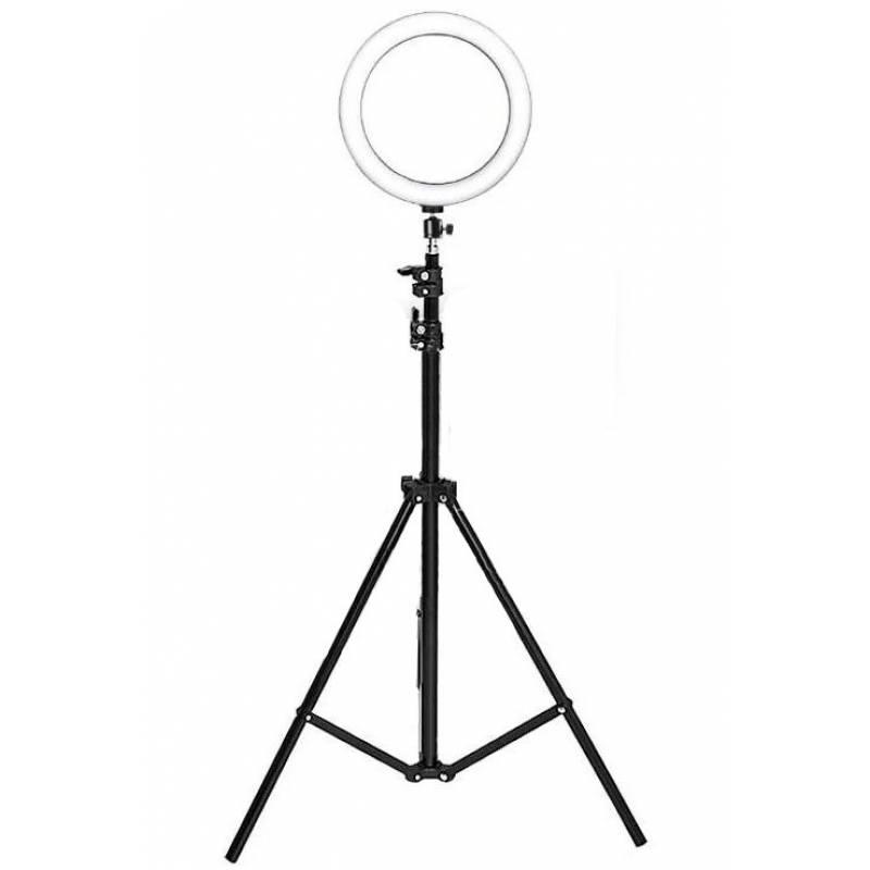 Купить Лампа напольная кольцевая со светодиодной подсветкой MP-352 OLY на штативе