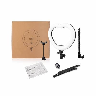 Настольная кольцевая лампа сердце Bucos Inovation BCS-X225 Ring Light, 18 Вт