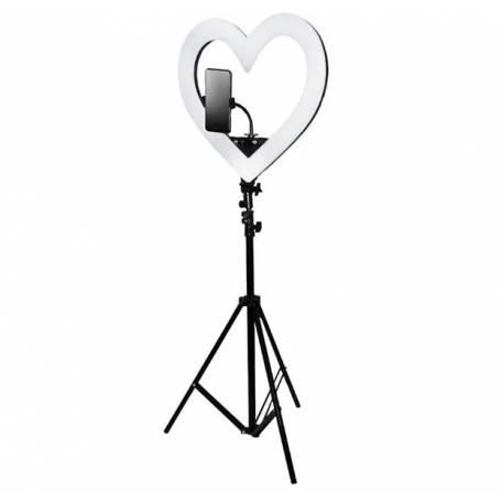 Купити Кільцева світлодіодна лампа для макіяжу у формі серця S-8 48Вт