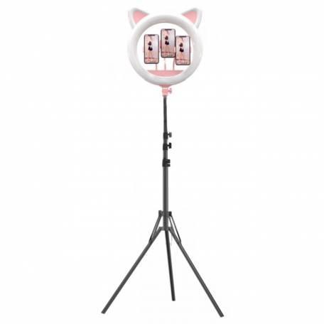 Купити Кільцева світлодіодна лампа для макіяжу з котячими вушками на штативі Ring Light RK-45