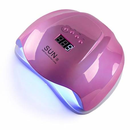 Купити UV-LED лампа для маникюру універсальна Sun X mirror pink 54 Вт (Дзеркальна рожева)
