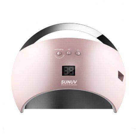 Уф LED лампы для маникюра - Универсальная UV LED лампа Sun6 48 Вт (розовая)