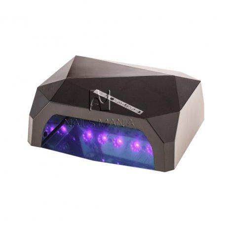 LED+CCFL гибридные Уф лампы для маникюра - УФ LED+CCFL лампа (таймер 10, 30, 60сек) 36 Вт (черный)