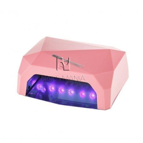LED+CCFL гибридные Уф лампы для маникюра - УФ LED+CCFL лампа (таймер 10, 30, 60 сек) 36 Вт (розовая)