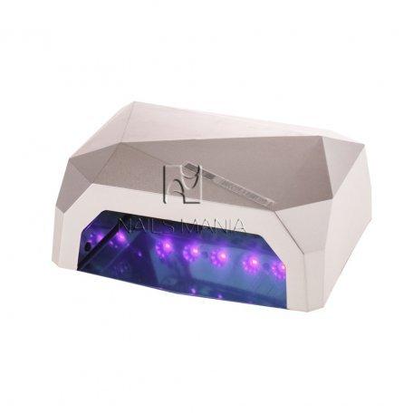 LED+CCFL гибридные Уф лампы для маникюра - УФ LED+CCFL лампа (таймер 10, 30, 60сек) 36 Вт (серебро)