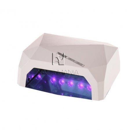 LED+CCFL гибридные Уф лампы для маникюра - УФ LED+CCFL лампа (таймер 10, 30, 60сек) 36 Вт (белая)