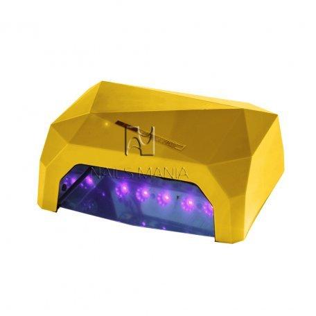 LED+CCFL гибридные Уф лампы для маникюра - УФ LED+CCFL лампа (таймер 10, 30, 60сек) 36 Вт (золотая)