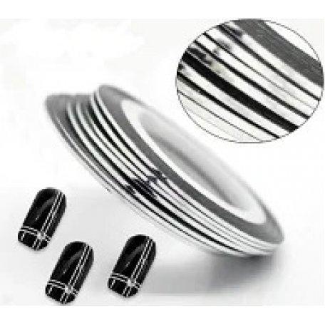 Купити Стрічка для дизайну нігтів (срібна)