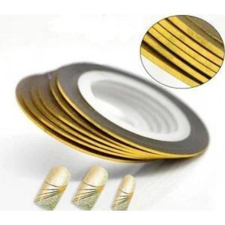 Купити Стрічка для дизайну нігтів (золота)