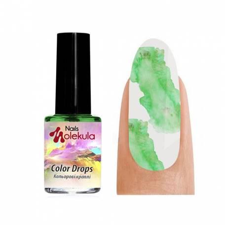 Купить Акварель Molekula Color Drops Green (Зеленый), 6 мл
