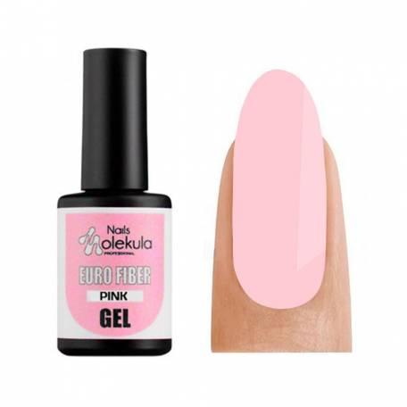 Купить Моделирующий гель-база Molekula Euro Fiber Gel Pink (Розовый), 12 мл