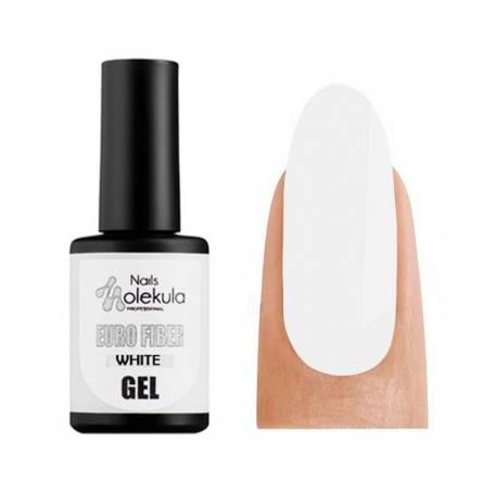 Купить Моделирующий гель-база Molekula Euro Fiber Gel White (Белый), 12 мл