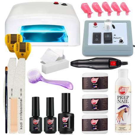Купить Набор для наращивания ногтей My Nail с УФ лампой 818 36 Вт и фрезером для маникюра Lina Mercedes 2000