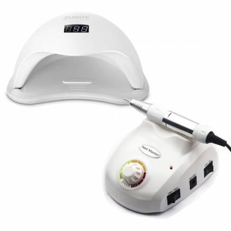 Купить Набор лампа Sun 5 48W + фрезер Nail Master 30 000 об/мин
