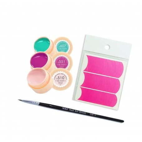 Купить Набор гель-красок для ногтей Canni + Кисть в подарок