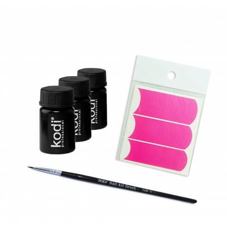 Купить Набор гель-красок для ногтей Kodi Professional + Кисть в подарок