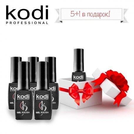 Купити Набір гель-лаків Kodi 5+1 в подарунок