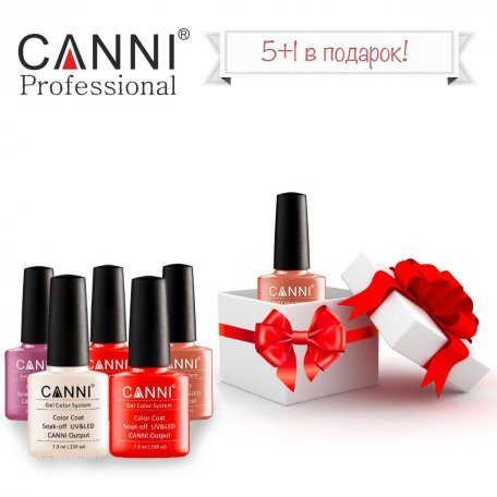 Купити Набір гель-лаків Canni 5+1 в подарунок