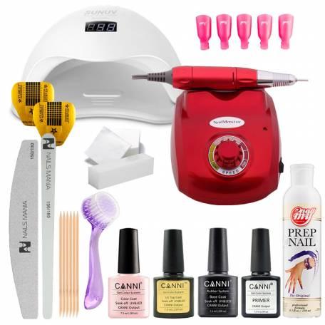 Купить Набор гель-лаков Canni с UV/LED лампой Sun 5 48 Вт и фрезером для маникюра Nail Master