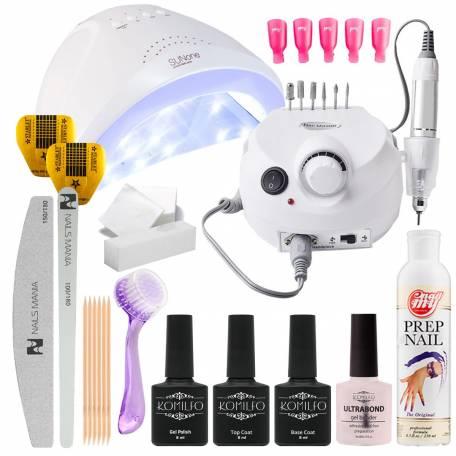 Купить Набор гель-лаков Komilfo с UV/LED лампой Sun One 48 Вт и фрезером для маникюра Drill Pro