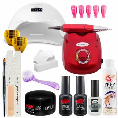 Купить Набор для наращивания ногтей PNB с UV/LED лампой Sun 5 48 Вт и фрезером для маникюра Nail Master
